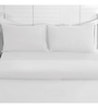 Maspar White Cotton Solid 108 x 90 Inch Double Bed Sheet (with Pillow Covers)