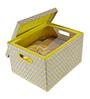 Maspar Yellow Cotton Floral 4-piece Baby Bed Set