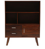 Matera Display Cabinet in Brown Colour by Tezerac
