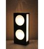Material Studio White & Black Wood & Handmade Paper Bamboo Table Lamp