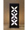 Material Studio White & Black Wood & Handmade Paper Titli Table Lamp