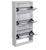 Matty Three Door Shoe Rack in White Colour by Evok
