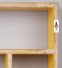 Mauricio Contemporary Wall Shelf in Yellow by CasaCraft