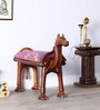 Maurya Handcrafted Stool in Multi-Colour Finish by Mudramark
