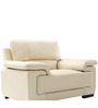 Maximus Leatherette Collection -One Seater in Cream Coloure by Furny