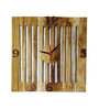 Mayak Handcrafted Wall Clock in Brown by Bohemiana
