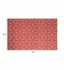 Maze Flatweave Wool Area Rug Red by Riva