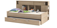 McTyler Teen Bed with Trundle & Storage Headboard in Brushed Oak Finish by Mollycoddle