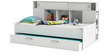 McTyler Teen Bed with Trundle & Storage Headboard in Pearl White Finish by Mollycoddle