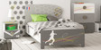 McZico Single Bed in Pearl White & Grey Finish by Mollycoddle