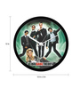 MC SID RAZZ Multicolour Plastic 12 Inch Round Official The Big Bang Theory Movie Poster Wall Clock Licensed by Warner Bros USA