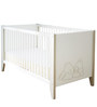 McBaloo Baby Crib Bed with Adjustable Height in Velvet White Finish by Mollycoddle