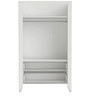 McCyan Two Door Wardrobe in Velvet White Finish by Mollycoddle