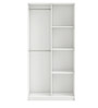 McLailah Two Door Wardrobe in Pearl White Finish by Mollycoddle