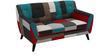 Medellin Two Seater Sofa in Red Multi Colour by CasaCraft