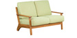 Callao Two Seater Sofa in Green Colour by CasaCraft
