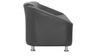 Mexico Three Seater Sofa in Black Colour by Furnitech