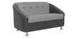 Mexico Two Seater Sofa in Black & White Colour by Furnitech