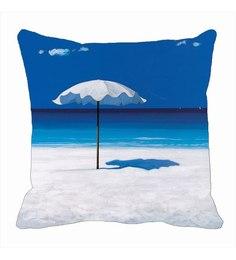Me Sleep Blue Satin Cushion Cover - Set Of 1