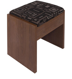 Melissa Dressing Stool In Dark Oak Finish By Godrej Interio