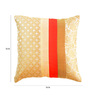 Me Sleep Beige Brocade 16 x 16 Inch Cushion Cover