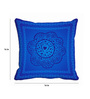 Me Sleep Blue Satin 16 x 16 Inch Cushion Cover