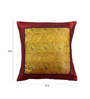 Me Sleep Red Brocade 16 x 16 Inch Paisley Cushion Covers - Set of 5