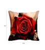 Me Sleep Red Satin 16 x 16 Inch Rose Cushion Cover