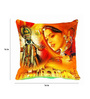 Me Sleep Yellow & Red Microfibre 16 x 16 Inch Cushion Covers - Set of 2