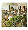 Hashtag Decor Medieval Cities of Italy Aluminum 17.75 x 17.75 Inch Framed Art Panel