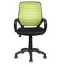 Medium Back Ergonomic Chair in Green Back Rest by Parin
