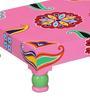 Artava Hand Painted Stool (Bajot) by Mudramark