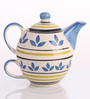 Meraki By Sonal Atai Ceramic Tea Pot Set - Set Of 2
