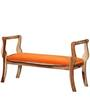 Anderson Upholstered Bench in Natural Finish by Amberville