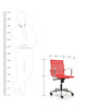 Mesh Fabric Mid Back Office Chair in Red Colour by FabChair
