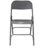 Metal Folding Chair in Grey Colour by SmalShop
