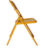 Metal Folding Chair in Orange Colour by SmalShop