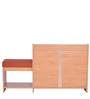 Metro Low Shoe Rack with Seating by StyleSpa