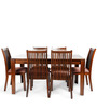 Metro Six Seater Dining Set in Espresso Colour by HomeTown