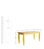 Lemar Six Seater Dining Table in Dual Tone Finish by Bohemiana