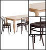 Nirvaana Four Seater Dining Table in Natural Finish by Mudramark