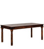 Dawlish Four Seater Dining Table in Provincial Teak Finish by Amberville