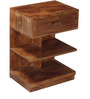 Olney End Table in Provincial Teak Finish by Woodsworth