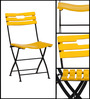 Mexico Folding Chair in Yellow Finish by Woodsworth