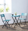Mexico Outdoor Folding Garden Set in Blue Colour by Woodsworth