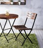 Mexico Outdoor Folding Garden Set in Provincial Teak Finish by Woodsworth