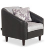 Mexico One Seater Sofa in Black Colour by Urban Living