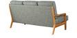 Arequipa Grey Three Seater Sofa in Teak Oak Finish by CasaCraft