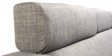 Mini Sectional Sofa with Left Side Lounger in Grey Colour by Furny