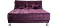 Mini Premium Queen Bed Cum Sofa Lounger in Purple Color by Furny